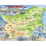 Larsen-K52-BG Rahmenpuzzle - Bulgarien (auf Bulgarisch)