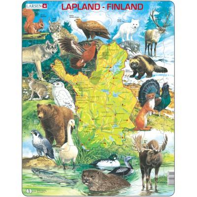 Larsen-K58-FI Rahmenpuzzle - Lappland und Finnland (auf Finnisch)