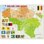 Larsen-K59-V1 Rahmenpuzzle - Belgien (auf Französisch und Flämisch)
