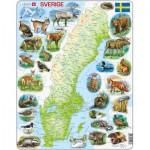 Larsen-K6-SE Rahmenpuzzle - Schweden (auf Schwedisch)