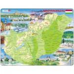 Larsen-K60 Rahmenpuzzle - Ungarn (auf Ungarisch)