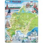 Larsen-K64-RU Rahmenpuzzle - Russland, Europäischer Teil (auf Russisch)