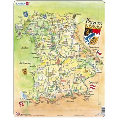 Larsen-K65-DE Rahmenpuzzle - Bayern