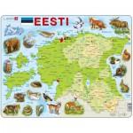 Larsen-K66-EE Rahmenpuzzle - Karte von Estland (auf Estnish)