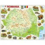 Larsen-K67 Rahmenpuzzle - Rumänien (auf Rumänisch)