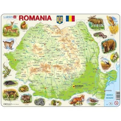 Larsen-K67-RO Rahmenpuzzle - Rumänien (auf Rumänisch)