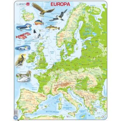 Larsen-K70-DE Rahmenpuzzle - Europa