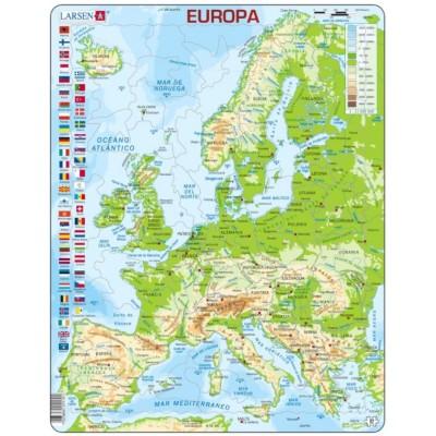 Larsen-K70-ES Rahmenpuzzle - Europa (auf Spanisch)