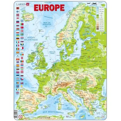 Larsen-K70-FR Rahmenpuzzle - Europa (auf Französisch)