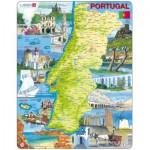 Larsen-K71-PT Rahmenpuzzle - Portugal (auf Portugiesisch)