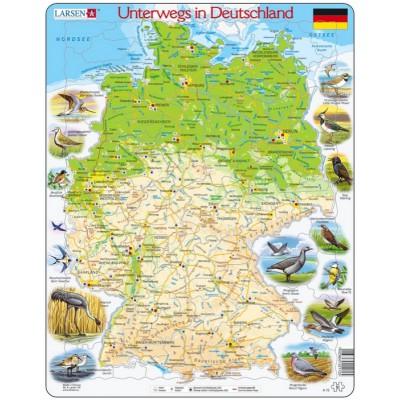 Larsen-K72-DE Rahmenpuzzle - Unterwegs in Deutschland