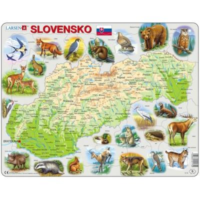 Larsen-K73-SK Rahmenpuzzle - Slowakei (auf Slowakisch)