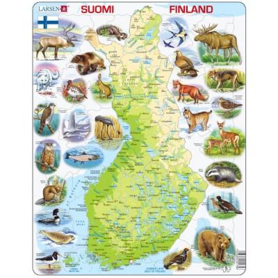 Larsen-K75-FI Rahmenpuzzle - Finnland (auf Finnisch)
