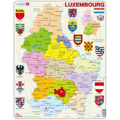 Larsen-K77-V1 Rahmenpuzzle - Luxemburg (auf Französisch)