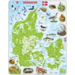 Larsen-K78-DK Rahmenpuzzle - Dänemark (auf Dänisch)