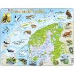 Larsen-K80-NL Rahmenpuzzle - Friesland, Niederlande (auf Holländisch)
