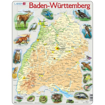 Larsen-K81-DE Rahmenpuzzle - Baden-Württemberg