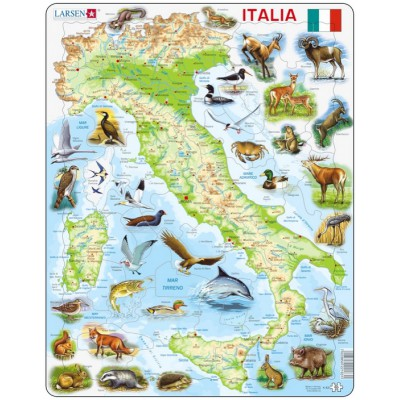 Larsen-K83 Rahmenpuzzle - Italien (auf Italienisch)