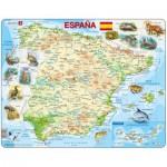 Larsen-K84-ES Rahmenpuzzle - Karte von Spanien (auf Spanisch)
