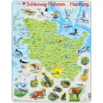 Larsen-K87-DE Rahmenpuzzle - Schleswig Holstein / Hamburg