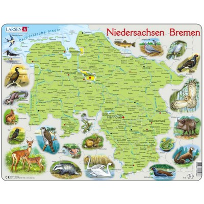 Larsen-K88-DE Rahmenpuzzle - Niedersachsen  /Bremen