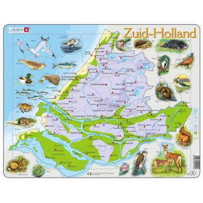 Larsen-K90-NL Rahmenpuzzle - Karte der Niederlande (auf Niederländisch)