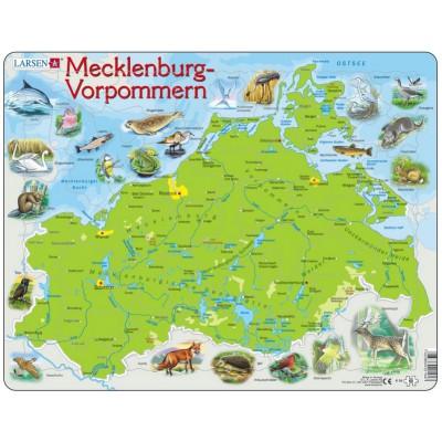 Larsen-K94-DE Rahmenpuzzle - Mecklenburg-Vorpommern