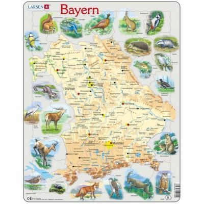 Larsen-K95-DE Rahmenpuzzle - Bayern