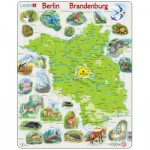 Larsen-K96-DE Rahmenpuzzle - Brandenburg und Berlin