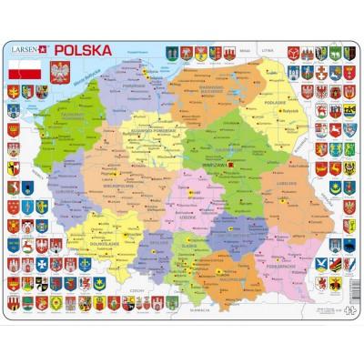 Larsen-K97-PL Rahmenpuzzle - Polen (auf Polnisch)