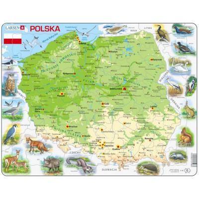 Larsen-K98-PL Rahmenpuzzle - Polen (auf Polnisch)
