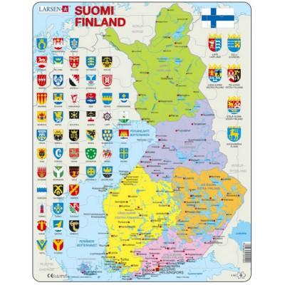Larsen-K99-FI Rahmenpuzzle - Finnland (auf Finnisch)