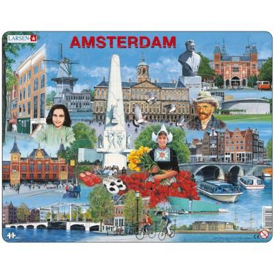Larsen-KH11 Rahmenpuzzle - Amsterdam