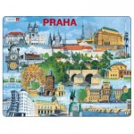 Larsen-KH12-CZ Rahmenpuzzle - Prag