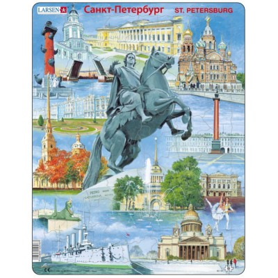 Larsen-KH16 Rahmenpuzzle - Sankt Petersburg