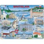 Larsen-KH17-SL Rahmenpuzzle - Bratislava (auf Slowakisch)