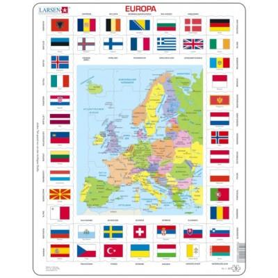 Larsen-KL1-DE Rahmenpuzzle - Europa