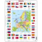 Larsen-KL1-RU Rahmenpuzzle - Europa (auf Russisch)