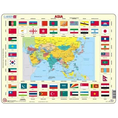 Larsen-KL2-GB Rahmenpuzzle - Asien (auf Englisch)