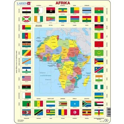 Larsen-KL3-DE Rahmenpuzzle - Afrika