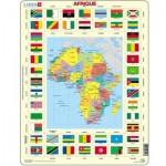 Larsen-KL3-FR Rahmenpuzzle - Afrika (auf Französisch)