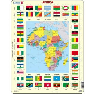 Larsen-KL3-GB Rahmenpuzzle - Afrika (auf Englisch)