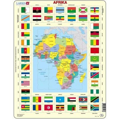 Larsen-KL3-NL Rahmenpuzzle - Afrika (auf Niederländisch)