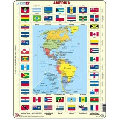 Larsen-KL4-DE Rahmenpuzzle - Amerika