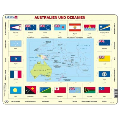 Larsen-KL5-DE Rahmenpuzzle - Australien und Ozeanien