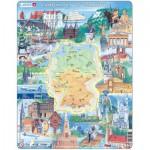 Larsen-KS2-GB Rahmenpuzzle - Eine Reise durch Deutschland