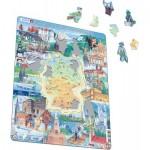 Larsen-KS2-TY Rahmenpuzzle - Eine Reise durch Deutschland (Deutsch)
