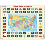 Larsen-L1-GB Rahmenpuzzle - United States of America (auf Englisch)