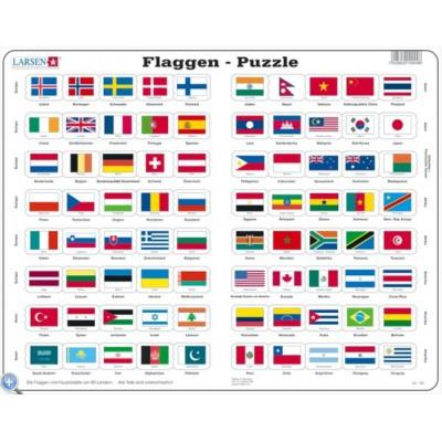 Larsen-L2-DE Rahmenpuzzle - Flaggen der Welt