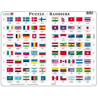 Larsen-L2-IT Rahmenpuzzle - Bandiere